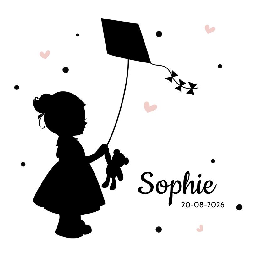 Geboortekaartje silhouet meisje geboortekaartjes kaartje2go - Kantoor voor een klein meisje ...