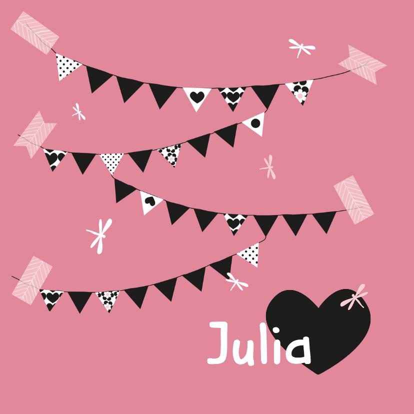 Geboortekaartjes - Geboortekaartje slinger Julia