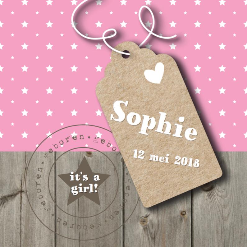 Geboortekaartjes - Geboortekaartje Sophie Label