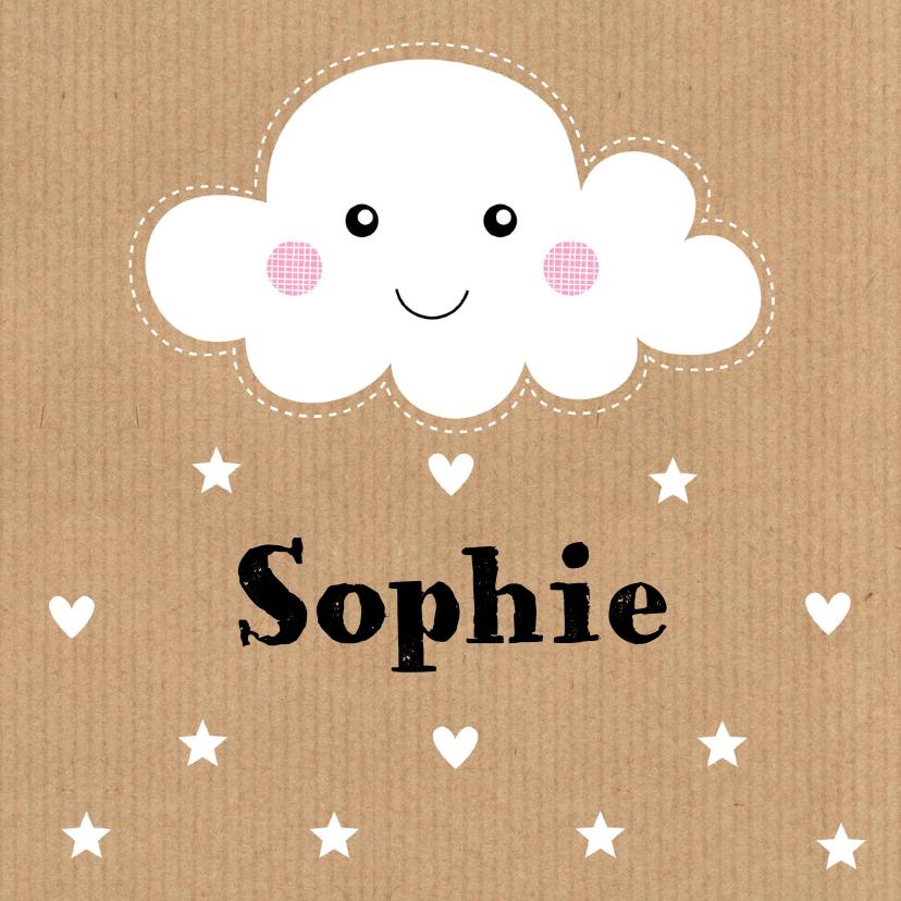 Geboortekaartjes - Geboortekaartje Sophie wolk LB