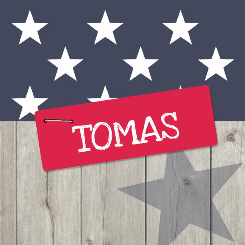 Geboortekaartjes - Geboortekaartje ster Tomas