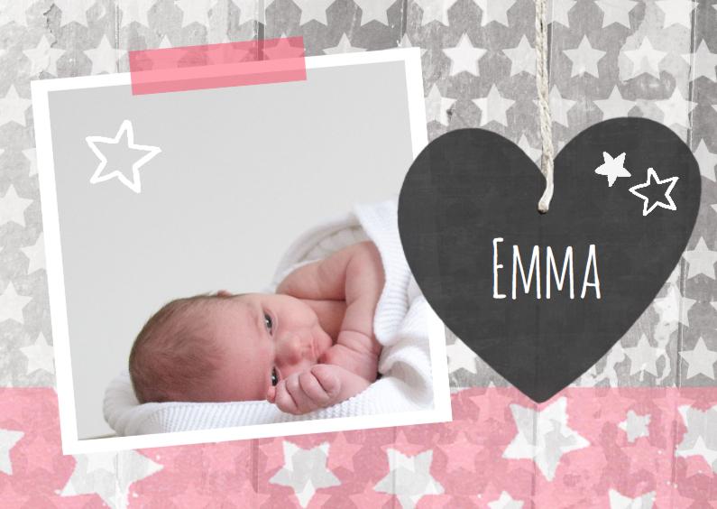 Geboortekaartjes - Geboortekaartje sterren Emma