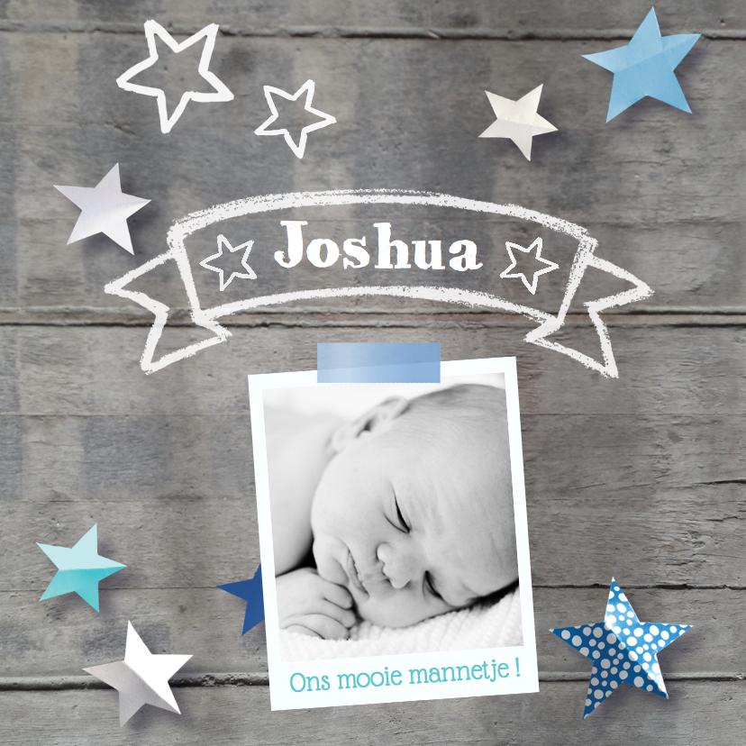 Geboortekaartjes - Geboortekaartje sterren foto