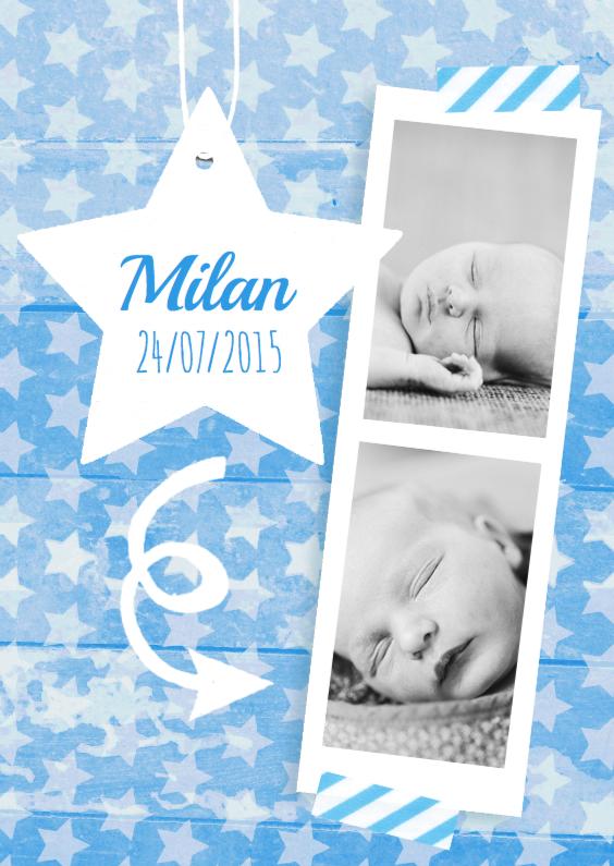 Geboortekaartjes - Geboortekaartje sterren Jonas