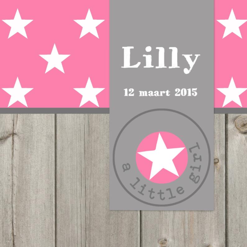 Geboortekaartjes - Geboortekaartje sterren Lilly