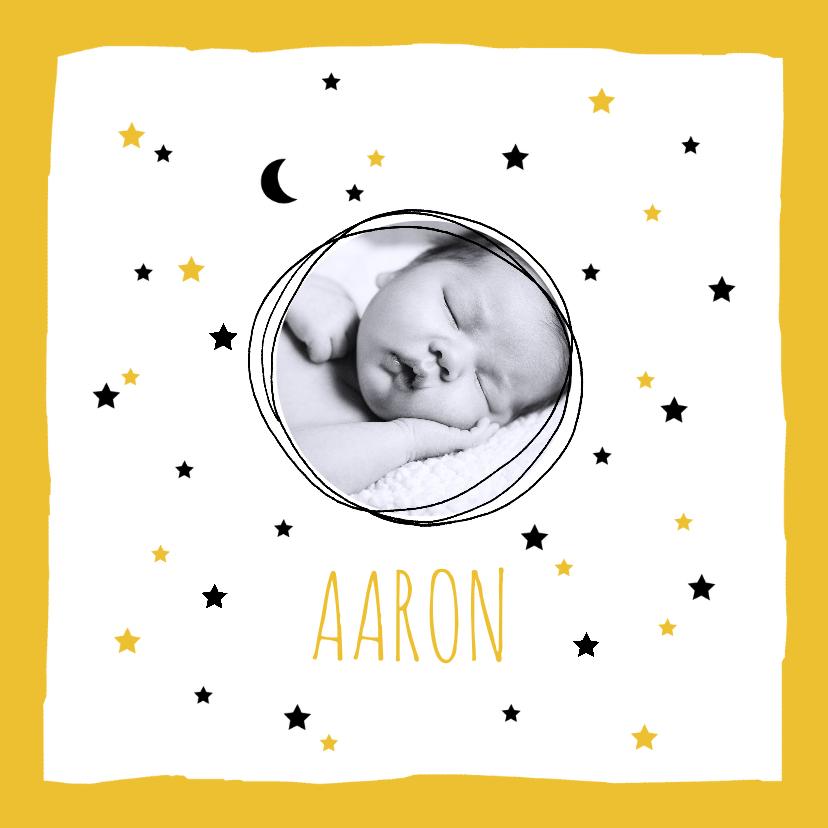 Geboortekaartjes - Geboortekaartje  sterren maan foto hip