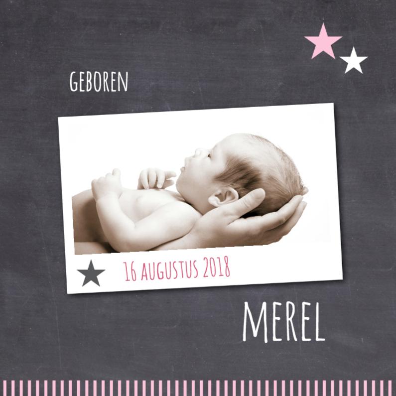 Geboortekaartjes - Geboortekaartje-sterren-merel-SK