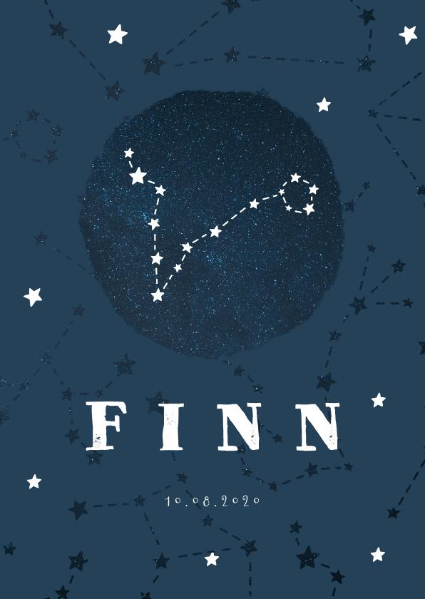 Geboortekaartjes - Geboortekaartje sterrenbeeld vissen universum