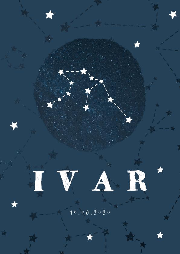 Geboortekaartjes - Geboortekaartje sterrenbeeld waterman universum