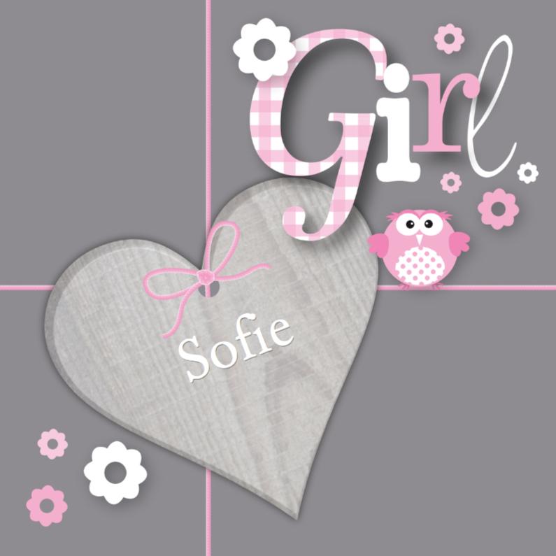 Geboortekaartjes - Geboortekaartje Sweet Girl