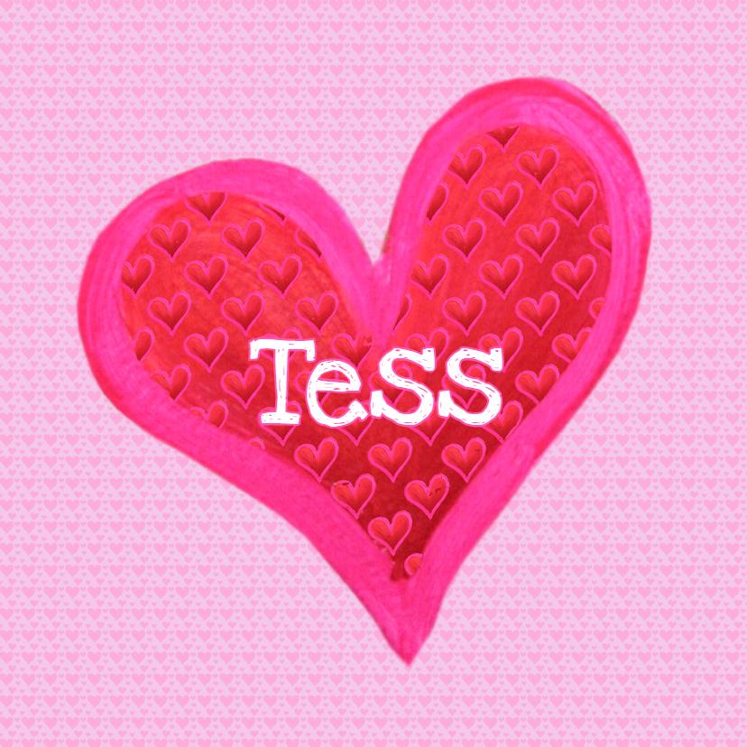 Geboortekaartjes - Geboortekaartje Tess PA