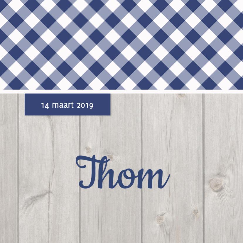 Geboortekaartjes - Geboortekaartje Thom LS