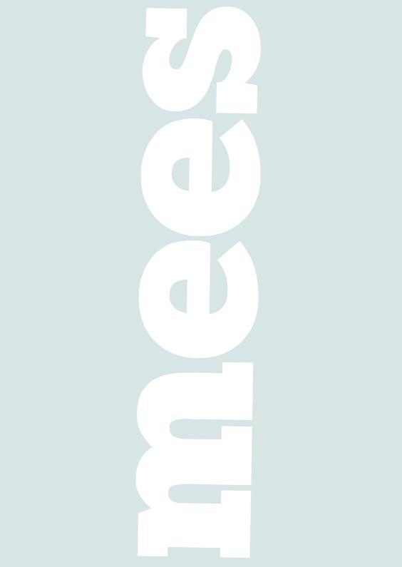 Geboortekaartjes - Geboortekaartje Typografie Mees