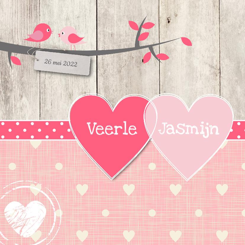 Geboortekaartjes - Geboortekaartje Veerle Jasmijn