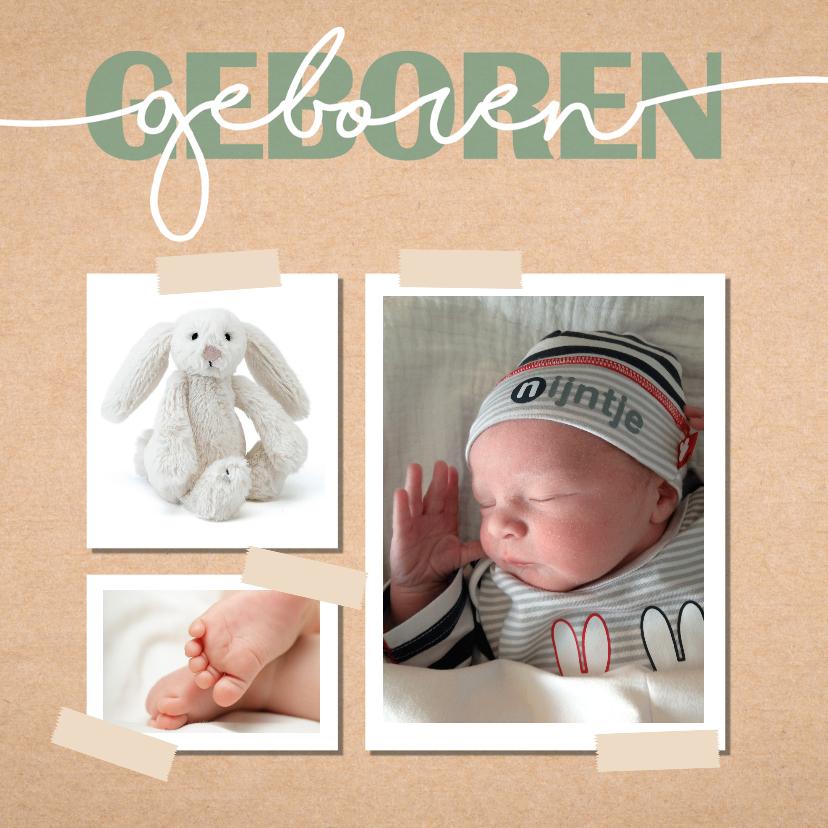 Geboortekaartjes - Geboortekaartje voor een stoere en lieve jongen