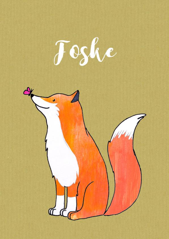Geboortekaartjes - geboortekaartje vos Foske