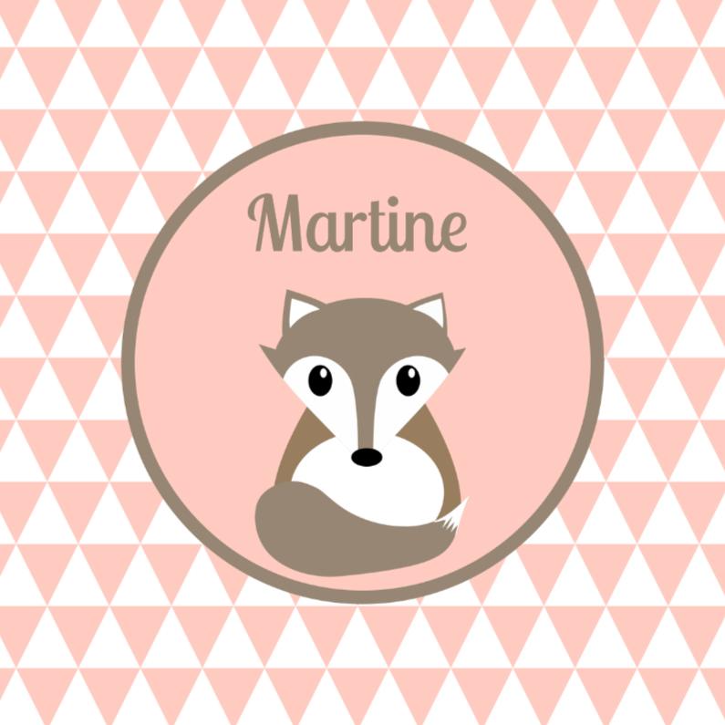 Geboortekaartjes - Geboortekaartje vos zalmroze