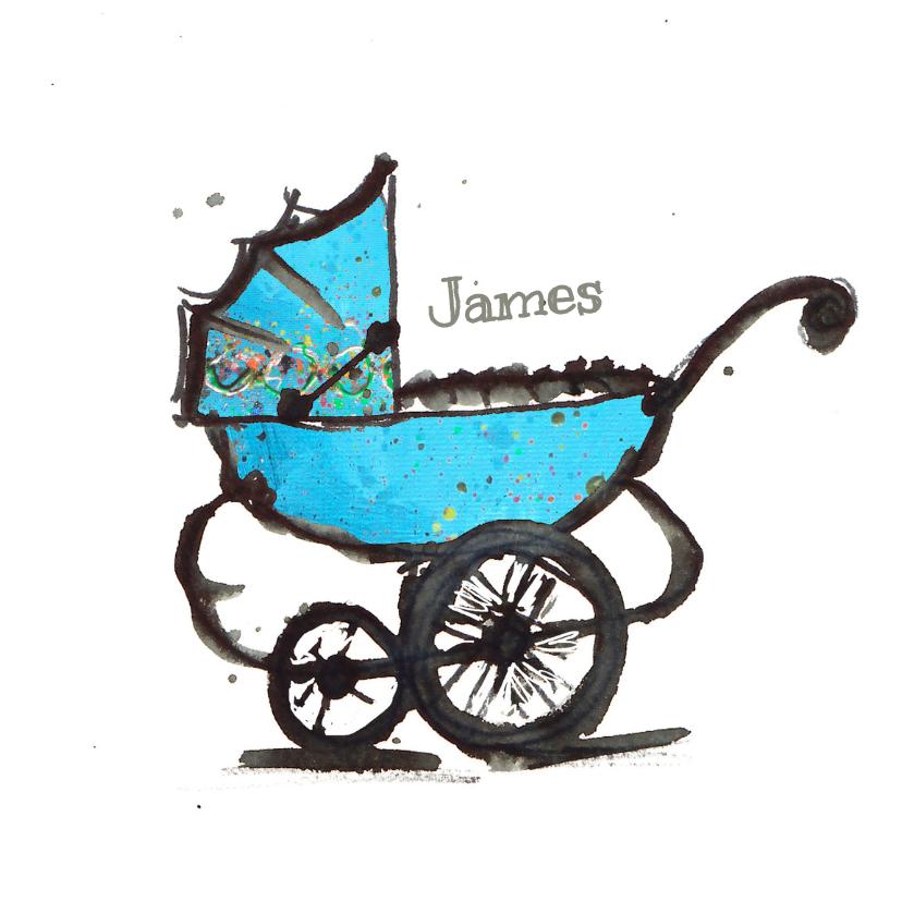 Geboortekaartjes - geboortekaartje wagen jongen