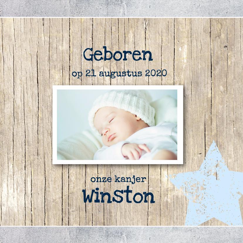 Geboortekaartjes - Geboortekaartje Winston