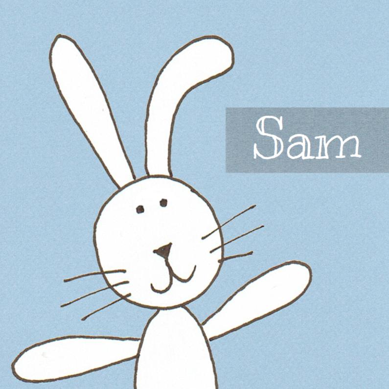 Geboortekaartjes - Geboortekaartje wit konijn