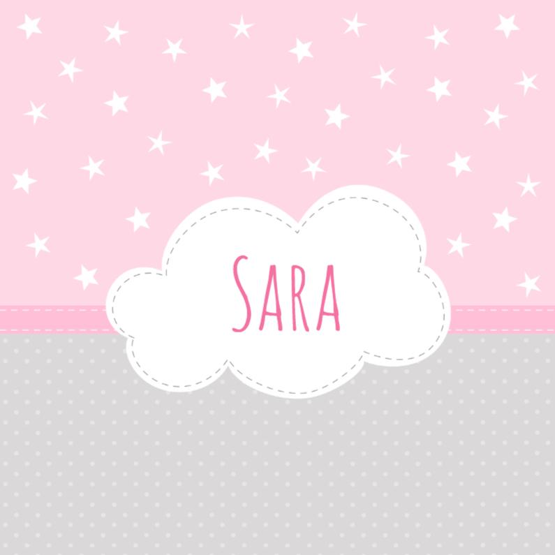 Geboortekaartjes - Geboortekaartje Wolk Sara - HB