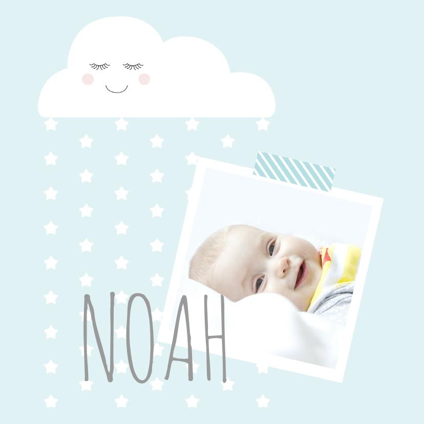 Geboortekaartjes - Geboortekaartje wolkje blauw