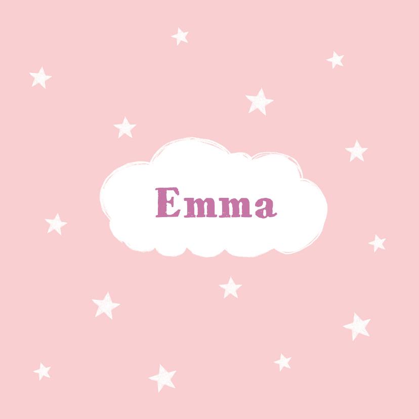 Geboortekaartjes - Geboortekaartje wolkje meisje
