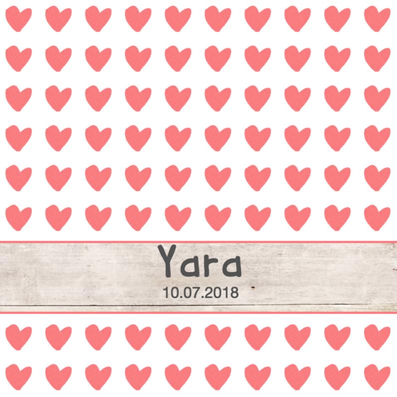 Geboortekaartjes - Geboortekaartje Yara