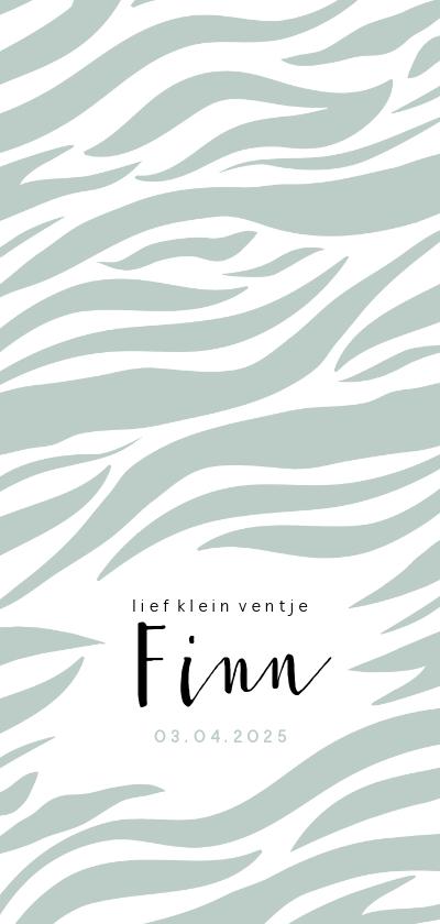 Geboortekaartjes - Geboortekaartje zebra dierenprint