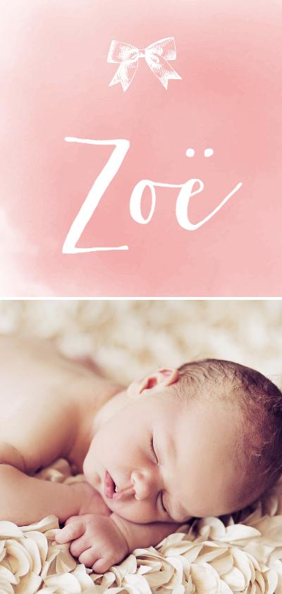 Geboortekaartjes - Geboortekaartje_Zoë_SK
