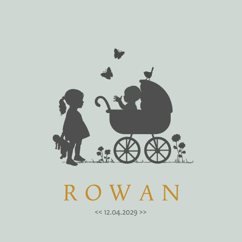 Geboortekaartjes - Geboortekaartje zusje en baby av