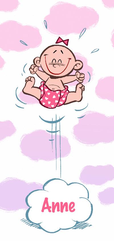 Geboortekaartjes - Geboortekaartje zusje - in de wolken - A