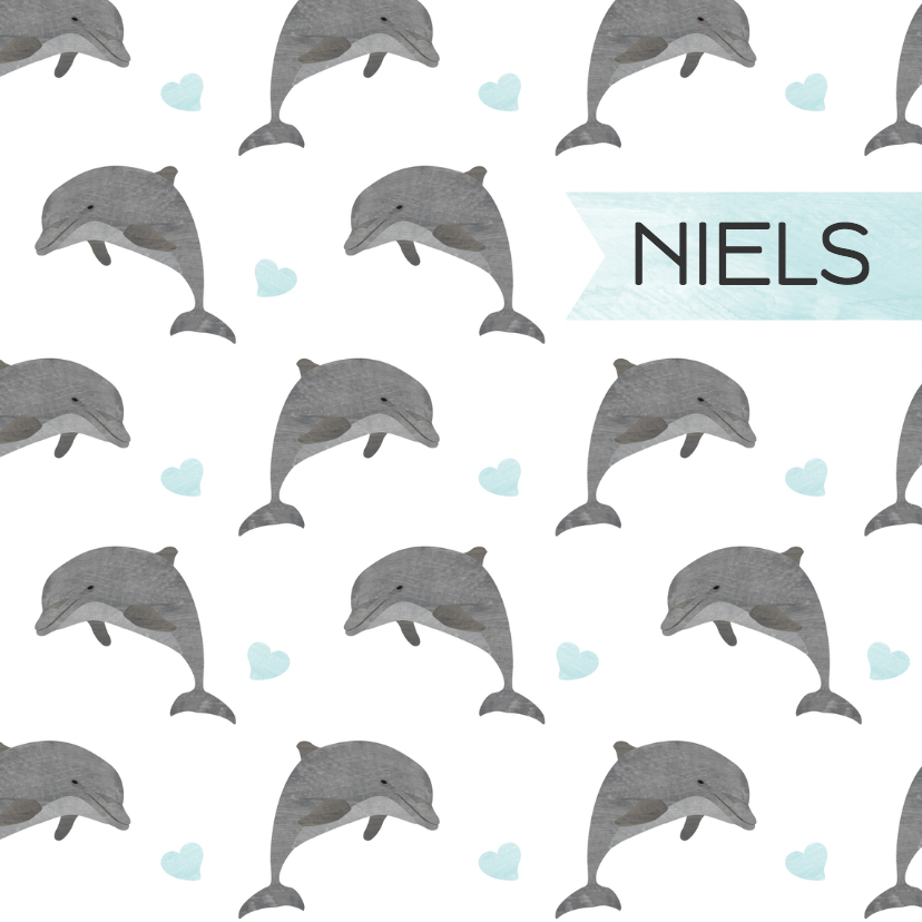 Geboortekaartjes - Geboortekaartjes dolfijnen