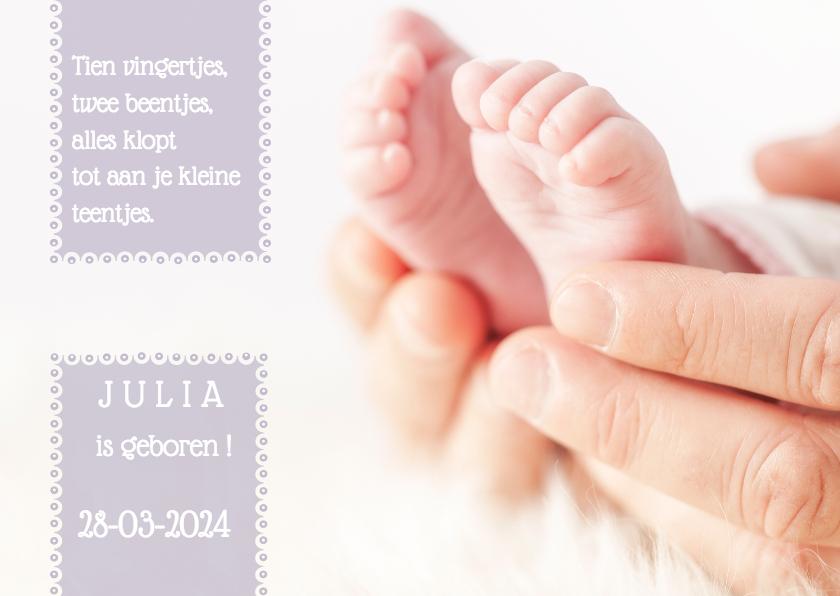 Geboortekaartjes - Geboortekaartjes Voetjes MM