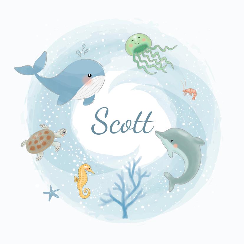 Geboortekaartjes - Geboortekaartjes - Zeedieren jongen