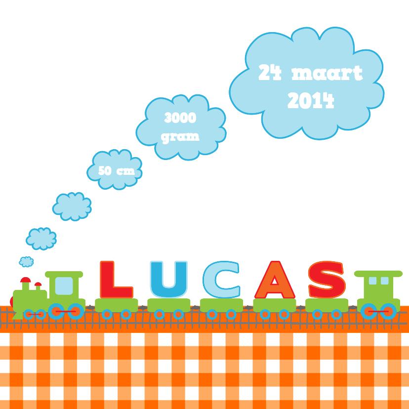 Geboortekaartjes - Geboortetreintje Lucas