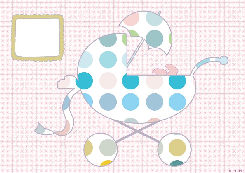 Geboortekaartjes - geboortewiegje