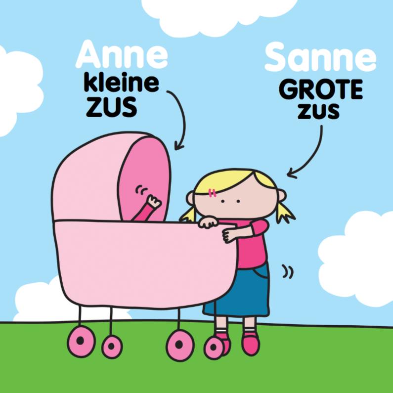 Geboortekaartjes - Geboortkaartje Grote Zus