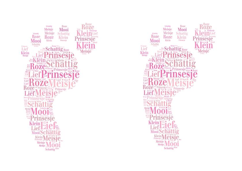 Geboortekaartjes - Geboren 2 lieve meisjes
