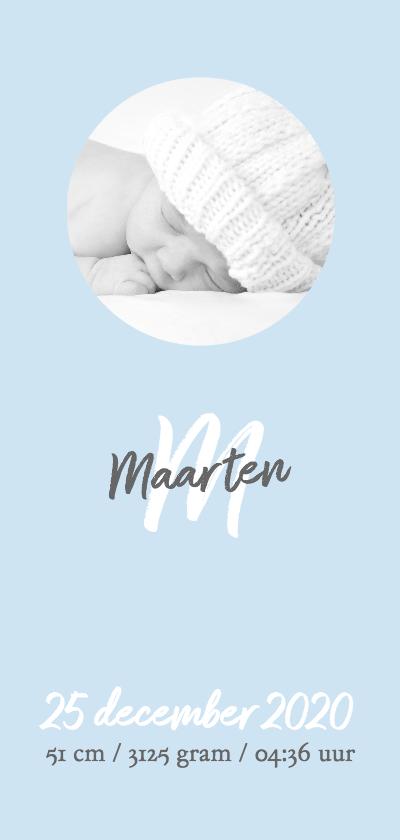 Geboortekaartjes - Geboren fotokaart jongen RB