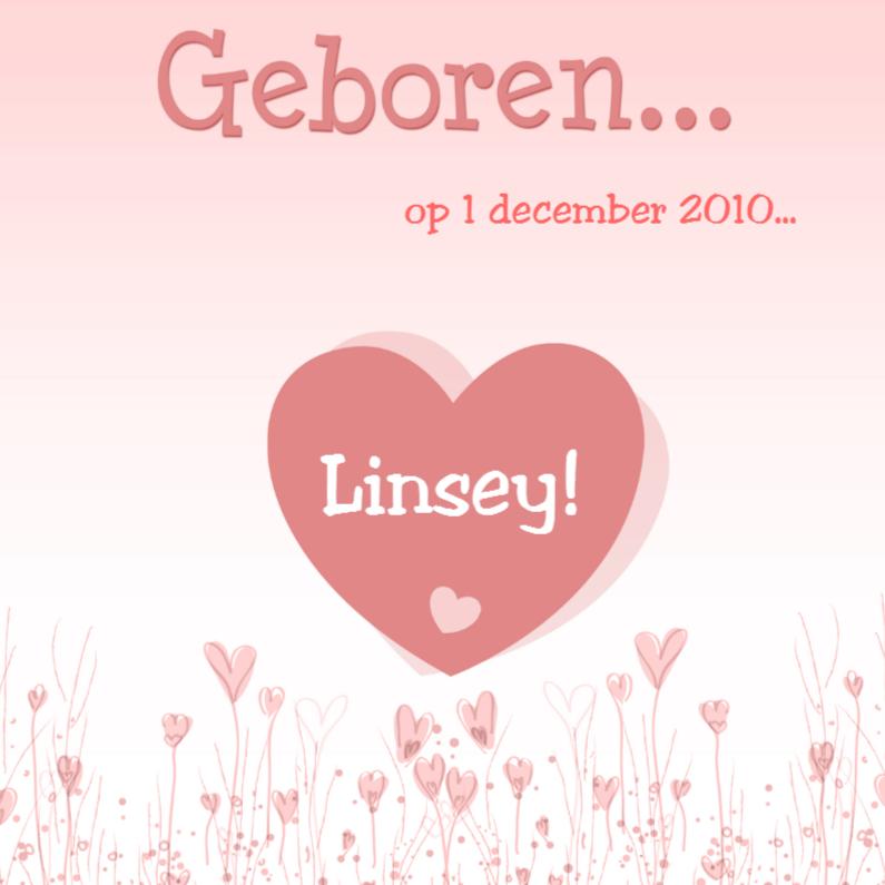 Geboortekaartjes - Geboren Linsey