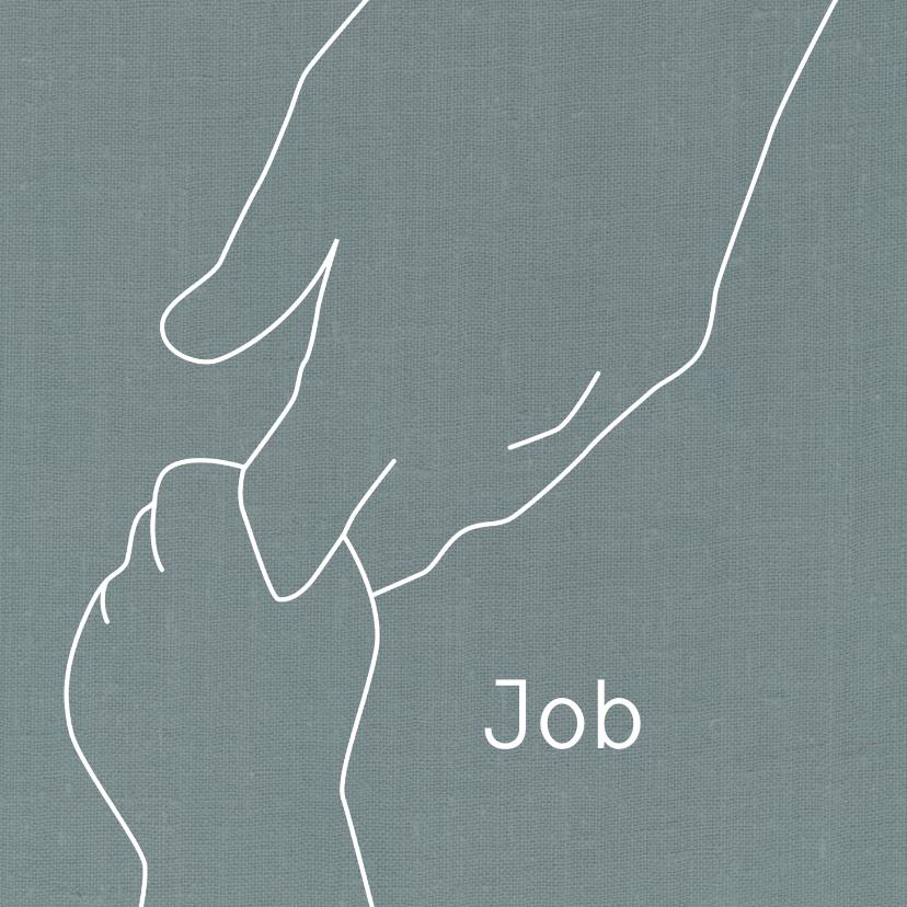 Geboortekaartjes - Geboren zoon illustratie handen