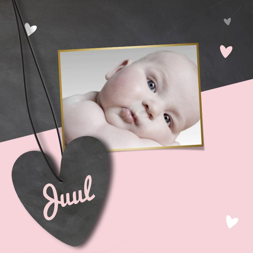 Geboortekaartjes - Hip babykaartje krijtbord