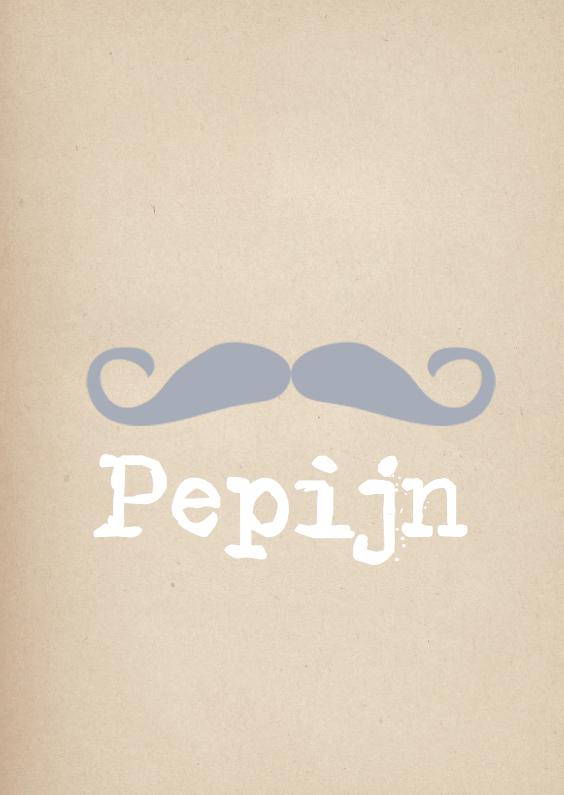 Geboortekaartjes - Hip geboortekaartje Pepijn