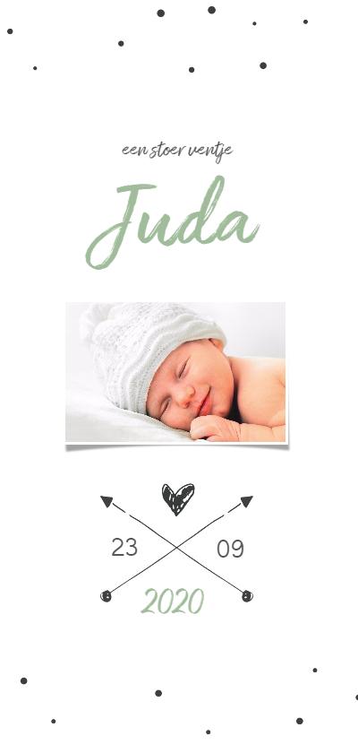 Geboortekaartjes - Hip geboortekaartje pijltjes