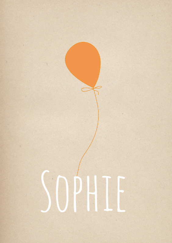 Geboortekaartjes - Hip Geboortekaartje Sophie