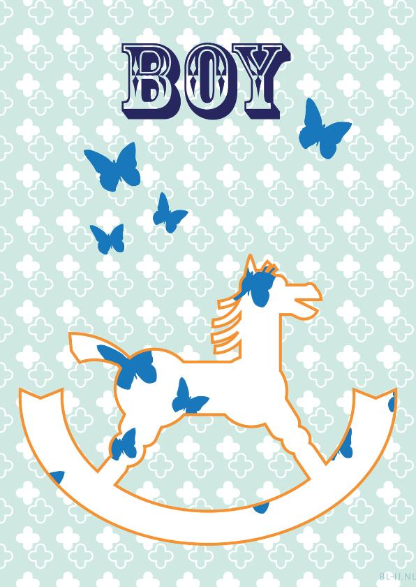 Geboortekaartjes - Hobbelpaart Boy