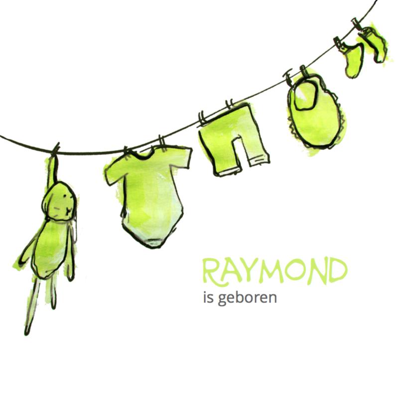 Geboortekaartjes - Hoera een jongetje is geboren