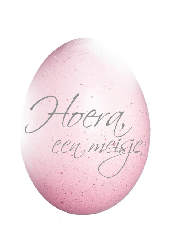 Geboortekaartjes - Hoera een meisje ei