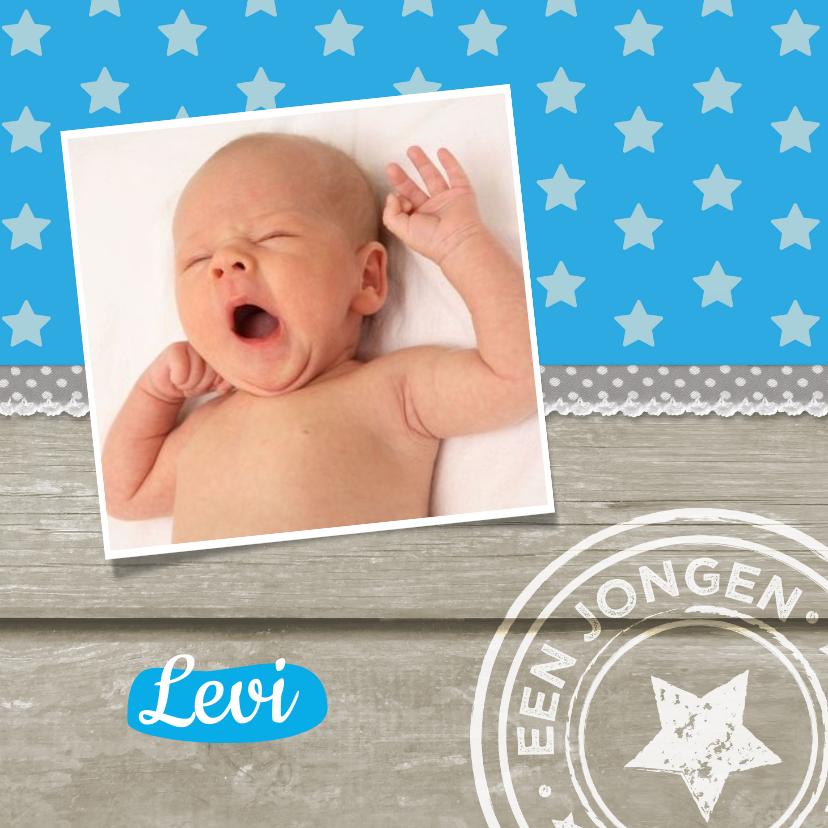 Geboortekaartjes - Hout sterretjes stempel 1LS3